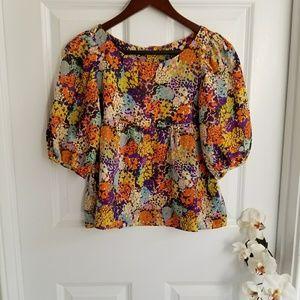Ali Ro floral geometric FEMININE  blouse